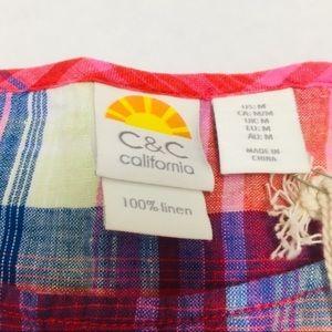 C&C California Tops - 3/$50 NWT C&C California plaid peplum top M
